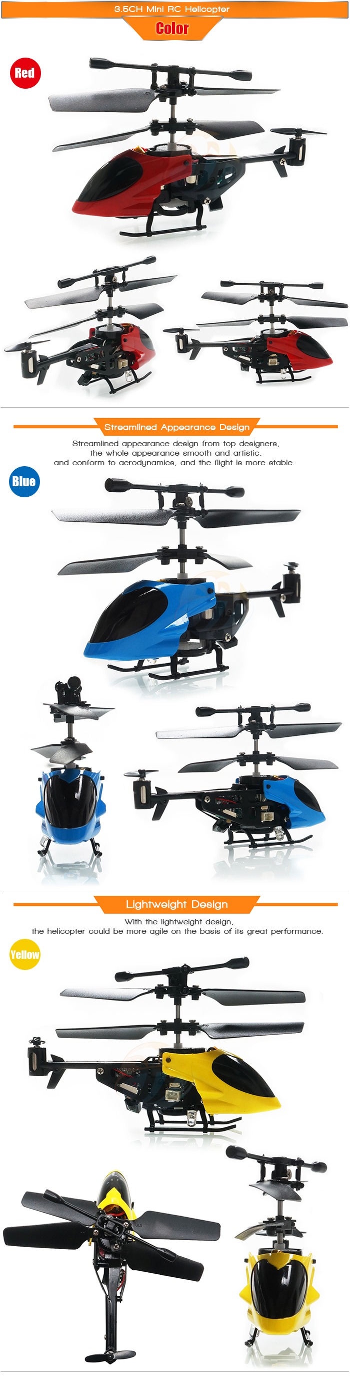 QS5010 3.5CH Infrared Mini RC Helicopter